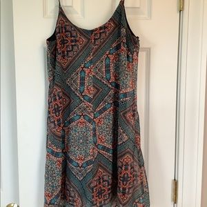 City Triangles Aztec-Inspired Flared Summer Tunic